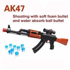 AK 47 Pistola de Juguete 3 Unids Bala Suave 400 Unids Absorber Agua Orbeez bala arma de la Pistola de Agua Pistola de Aire Pistola De Balas De Cristal de Regalo Para Los Niños
