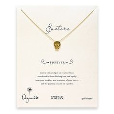 sorority sisters forever reminder necklace with gold dipped skull  <3TriSigma