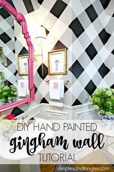Hand Painted Gingham Wall Tutorial