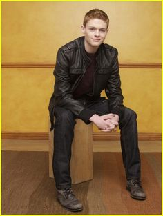 Picture: Sean Berdy in 'Switched at Birth.' Pic is in a photo gallery for Sean Berdy featuring 10 pictures. Tight Leather Pants, Leather Jacket, Emmett Bledsoe, Emmett And Bay, Sean Berdy, Beautiful Men, Beautiful People, Switched At Birth, Hommes Sexy