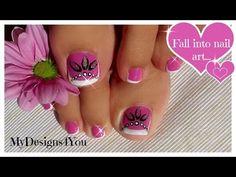 Toenail Art Design | Pink and Silver Beads Pedicure ♥ Розовый Педикюр. - YouTube