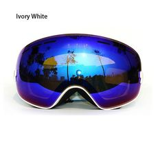 5bb800626894 COPOZZ Snow Skate Ski Goggles Ski Eyewear with Mirror coating Anti-Fog and  UV Protection Lens - Adults and Juniors Helmet Compatible White