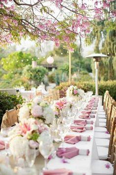 decoração de casamento rosa claro                                                                                                                                                      Mais