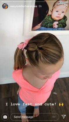 Easy Toddler Hairstyles, Easy Little Girl Hairstyles, Girls Hairdos, Cute Hairstyles For Kids, Cute Girls Hairstyles, Pretty Hairstyles, Easy Hairstyles, Toddler Hair Dos, Toddler Girl