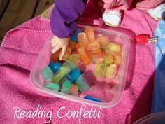 Colored Ice Cube Sensory Play