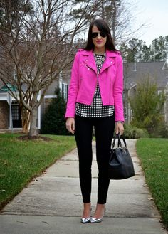 Bold pink - want this jacket - love the shape and any bold color would be great!
