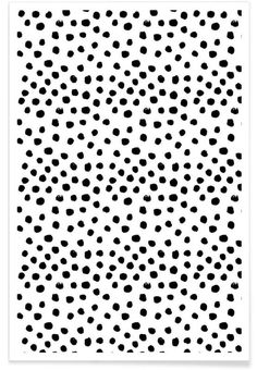Dots Black And White als Premium Poster von Charlotte Winter | JUNIQE shop