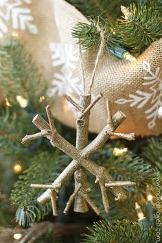 Twiggy Snowflake Ornament by Make It and Love It