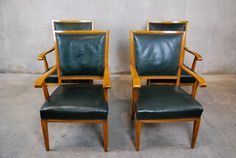 Set of Four Arm Chairs Arm Chairs, Dining Chairs, Four Arms, 1930s, Antiques, Furniture, Home Decor, Wing Chairs, Antiquities