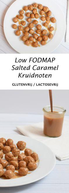 Kruidnoten met salted caramel saus. Low FODMAP, glutenvrij en lactosevrij.