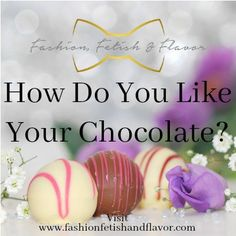 Do you like your Chocolate White or Dark?   Oh so you thought this was gonna be about some rich delicious chocolate candy didn't you? Haha!