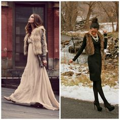 Fur vest with dresses. How To Wear a Faux Fur Vest. We'll help you wear it, and wear it well.