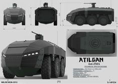 This personal project won place of FNSS Mildesign 2015 - International Land Vehicles Competition, Student Category, last year. Concept Ships, Armor Concept, Weapon Concept Art, Concept Cars, Futuristic Armour, Futuristic Cars, Army Vehicles, Armored Vehicles, Strange Cars