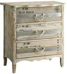 Crestview Collection Grand Isle 3 Drawer Chest X X Beach Cottage Style, Coastal Style, Beach House Decor, Coastal Decor, Home Decor, Coastal Lighting, Modern Coastal, Coastal Cottage, Beach Furniture