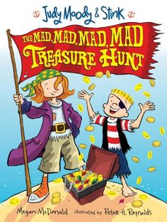 Judy Moody and Stink: The Mad, Mad, Mad, Mad Treasure Hunt by Megan McDonald http://www.amazon.com/dp/0763643513/ref=cm_sw_r_pi_dp_ULCXtb0S8EEKEZ4K