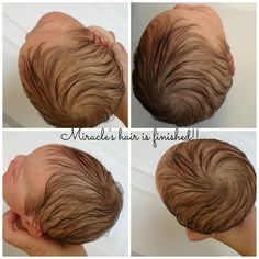 Image result for rooting pattern for reborn doll heads