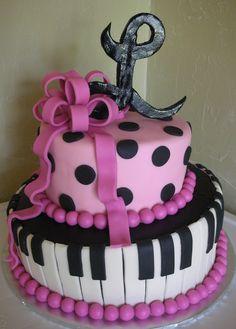 Topsy Turvy Piano Cake