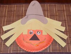 "Cute Fall Craft for my First Graders! Maybe write a ""How to make a Scarecrow"" story to go with it..."