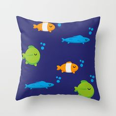 Fish Throw Pillow by fishdesigns