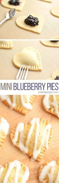 These heart shaped mini blueberry pies are SO EASY to make and they taste amaaaaazing! They use jam as the filling and you can even use store bought pie crust!