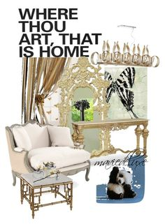 """""""Art Home"""" by maviedeluxe ❤ liked on Polyvore featuring interior, interiors, interior design, home, home decor, interior decorating, Global Views, Jonathan Charles Fine Furniture, Cyan Design and Michael Aram"""