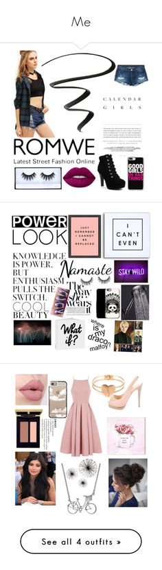 """""""Me"""" by brooklyndarling ❤ liked on Polyvore featuring NYX, Kerr®, 3x1, Huda Beauty, Casetify, Lime Crime, art, Oliver Gal Artist Co., Christian Louboutin and Chi Chi"""