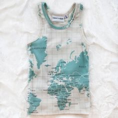 Hoist the world on your shoulders when you wear this mappy tank top.