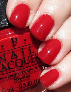 OPI Spring/Summer 2014 Brazil Collection Red Hot Rio is a red creme. The formula was good, it was a little squishy and crelly like and the opacity was good. I used 2 coats for the photos below. French Manicure Acrylic Nails, Opi Nail Polish, Opi Nails, Nail Manicure, Nail Polishes, Mani Pedi, Spring Nails, Summer Nails, Nails
