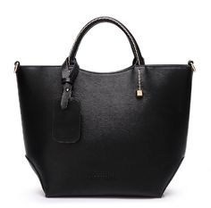 3 Color Leather Tote Bag