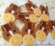 Your place to buy and sell all things handmade Horse Cake Toppers, Horse Cupcake, Cupcake Mix, Edible Cupcake Toppers, Cupcake Frosting, Cupcake Ideas, Cowboy Cupcakes, Farm Animal Cupcakes, Fun Cupcakes