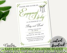 Engagement Party Invitation Bridal Shower Engagement Party Invitation Modern Martini Bridal Shower Engagement Party Invitation Bridal ARTAN #bridalshower #bride-to-be #bridetobe