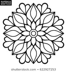 Flower Mandala Vintage decorative elements Oriental pattern vector illustration Islam Arabic Indian moroccan spain turkish pakistan chinese mystic ottoman motifs Coloring book page Mandala Art, Mandala Drawing, Mandala Painting, Flower Mandala, Mandala Pattern, Dot Painting, Mandala Coloring Pages, Coloring Book Pages, Simple Mandala