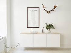 Vägghängd skänk. Förvaring, kontor. Metod från Ikea.