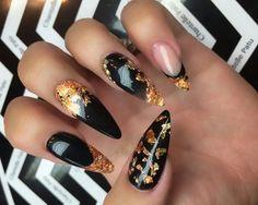 офигенно, чёрный, темно, мода, галактика, ногти, космос