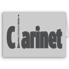 Clarinet - Orchestra Marching Band Instrument Greeting Cards, Postcards, T-shirts and many other neato gift items.