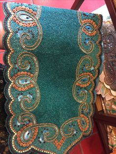 Still Want This Teal Beaded Table Runner From Pier 1!