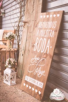 De Boda en un Campo de Golf. Bienvenida - El Día más Dulce Eclectic Wedding, Rustic Wedding, Weeding Themes, Wedding Signs, Our Wedding, Bridal Decorations, Beach Wedding Inspiration, My Perfect Wedding, Marry You