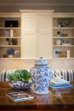 A room I styled for a client. I love blue and white.