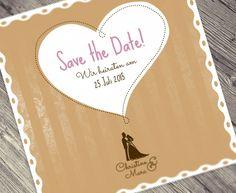Wedding stationary ~ Save the Date card ~  #savethedate #wedding #weddingdesign #hochzeit #heiraten #love #liebe  http://www.dy-grafikdesign.de/hochzeitsdesign-wedding.html