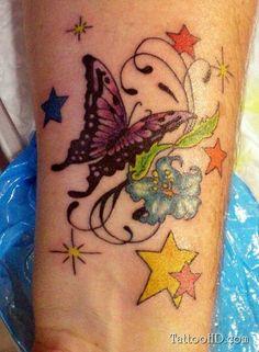 farbige tattoo am handgelenk ideen
