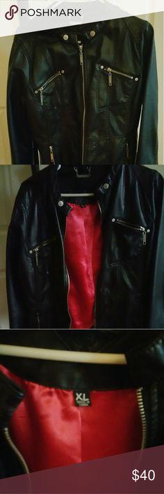 Selling this JouJou Faux Leather Jacket on Poshmark! My username is: karenis62. #shopmycloset #poshmark #fashion #shopping #style #forsale #Jou Jou #Jackets & Blazers