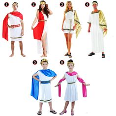 Men Women Boy Girl Greek Roman Adult Costume Grecian Goddess God Cosplay Carnival Halloween Costume Birthday Party(China (Mainland))