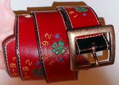 Vintage belt Banana Republic 1992 all leather by notdomesticated, $60.00