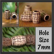12 Antique Style Acrylic DREADLOCK BEADS 7mm Hole DREAD *NEW* Hair Beads