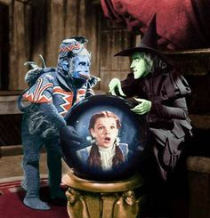 The Wicked Witch & Flying Monkey Nikko track Dorothy through Oz via the crystal ball.