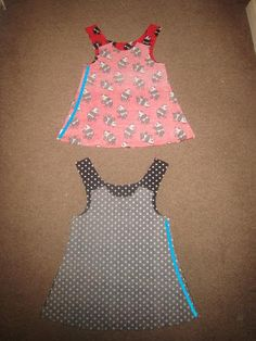 I've been looking for this tutorial for a long time. Kitschy Coo: How to make things reversible: Bagging a simple A-line dress.