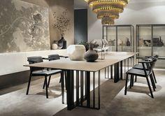 Table à manger / rectangulaire / contemporaine / en métal SHADE by Francesco Rota LEMA Home
