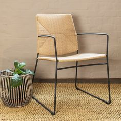 The Jules Dining Armchair is suitable for use outdoors or indoors and is weather resistant. Dimensions: W: D: H: Seat H: The manufacturer uses ECOLENE®, a polyethylen… Dining Arm Chair, Dining Table, Outdoor Chairs, Outdoor Furniture, Outdoor Decor, Side Chairs, Wicker, Armchair, Indoor