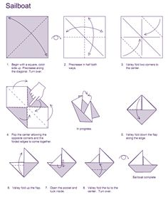Image Led Make A Paper Boat With Big Sail Step 2 How To Origami Sailboat Party Favors
