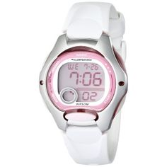Casio Women's White Resin Strap and Pink Dial Digital Watch el primer reloj que le compre a la potin Digital Sports Watch, Digital Watch, Casio Digital, Sport Watches, Watches For Men, Women's Watches, Jewelry Watches, Ladies Watches, Pocket Watches